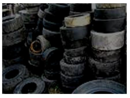Recycling Rubber. A material made by chemically treating and toughening this substance. Values for its elasticity, non-conduction of electricity, shock.
