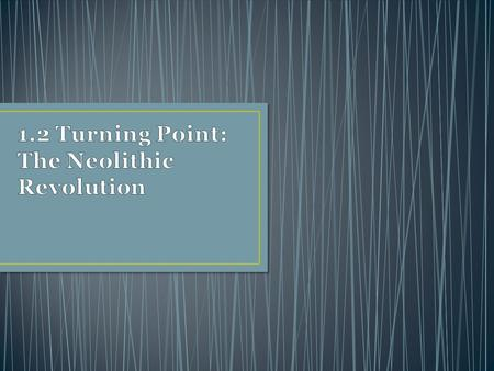 1.2 Turning Point: The Neolithic Revolution