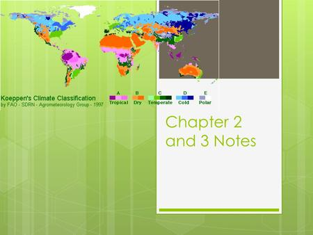 Chapter 2 and 3 Notes.