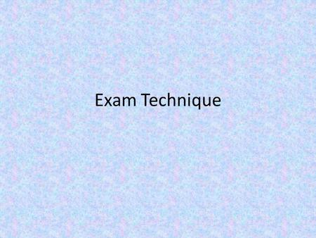 Exam Technique. Part A Question: What is Resurrection What marks would you give these answers? It is the name of the gathering that happens after a funeral.