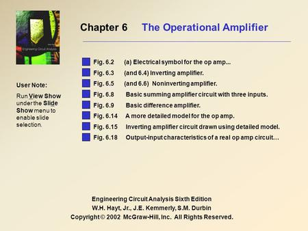 Chapter 6 The Operational Amplifier
