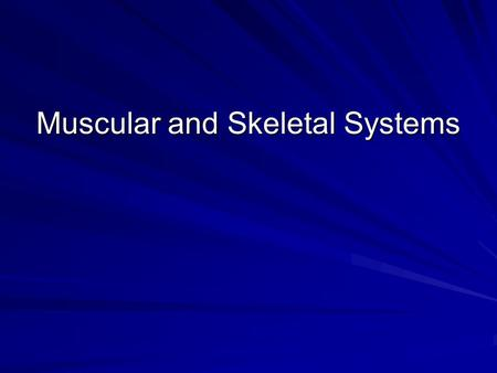 Muscular and Skeletal Systems. I. Muscular System A. Types B. Major Groups.