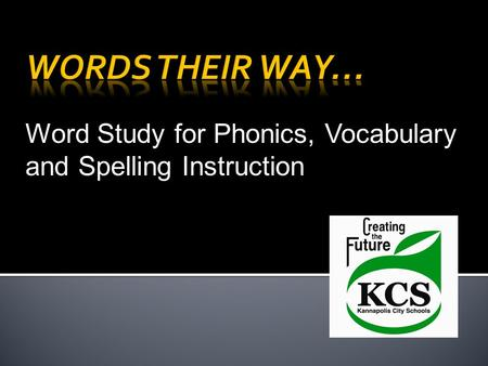 Words Their Way… Word Study for Phonics, Vocabulary and Spelling Instruction.