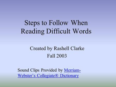 Steps to Follow When Reading Difficult Words