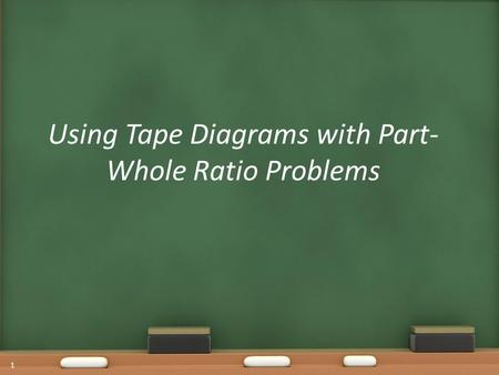 Using Tape Diagrams with Part-Whole Ratio Problems