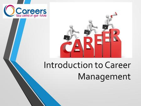 Introduction to Career Management. Understand what is meant by 'Career Management' Review your current position Look ahead at the skills and knowledge.