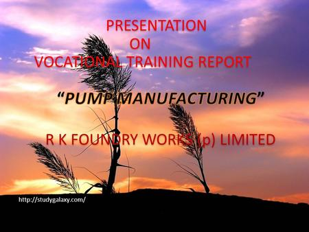 INTRODUCTION PUMP INTRODUCTION CASTING INTRODUCTION : R K foundry works (p) limited : Its Established in year 1970 at Jaipur, Rajasthan India. R.K.