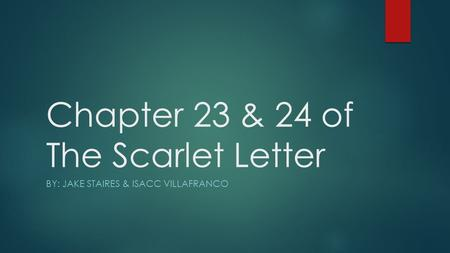 Chapter 23 & 24 of The Scarlet Letter