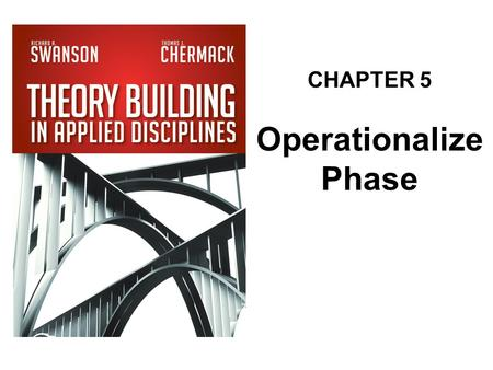 CHAPTER 5 Operationalize Phase.