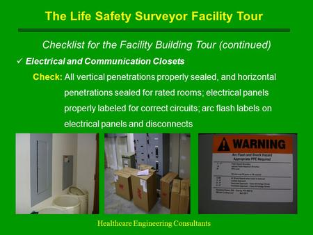 The Life Safety Surveyor Facility Tour