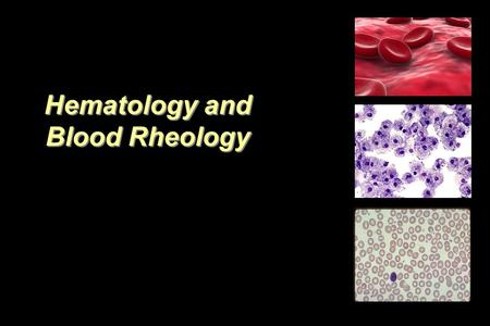 Hematology and Blood Rheology. Elements of Blood Blood includes 40 to 45% formed elements: -Red Blood Cells (erythrocytes). -White Blood Cells (leukocytes).