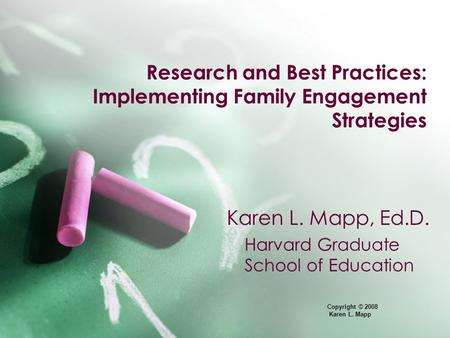 Research and Best Practices: Implementing Family Engagement Strategies