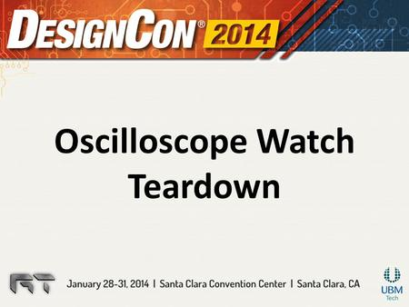 Oscilloscope Watch Teardown. Agenda History and General overview Hardware design: – Block diagram and general overview – Choice of the microcontroller.