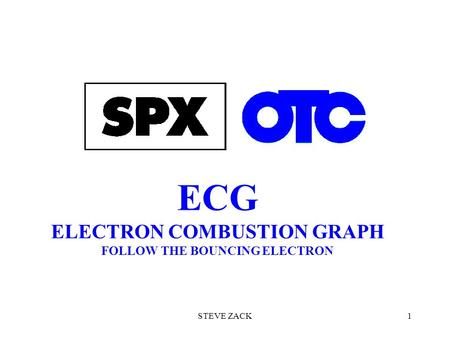 ECG ELECTRON COMBUSTION GRAPH FOLLOW THE BOUNCING ELECTRON