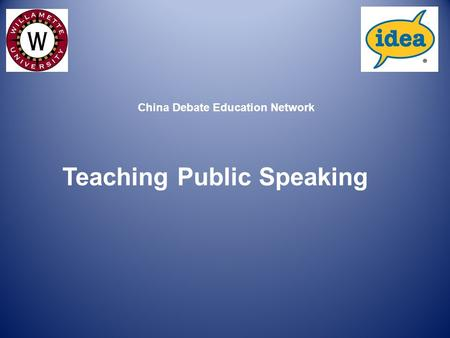 Teaching Public Speaking China Debate Education Network.
