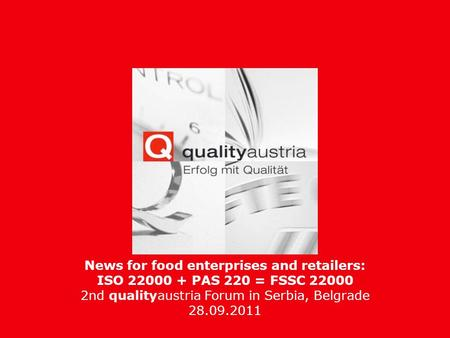 News for food enterprises and retailers: