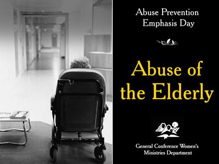 Introduction Recently a newspaper instanced that child abuse is rising in the United States, but instances of abuse of the elderly is rising twice as fast.