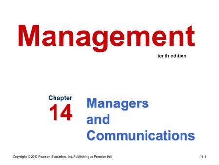 Managers and Communications