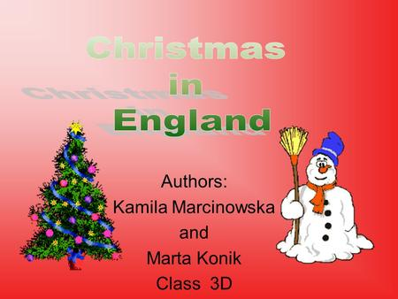 Authors: Kamila Marcinowska and Marta Konik Class 3D.
