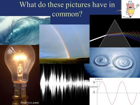 What do these pictures have in common?. 2 Introduction to Waves.
