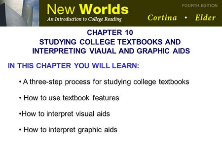STUDYING COLLEGE TEXTBOOKS AND INTERPRETING VIAUAL AND GRAPHIC AIDS