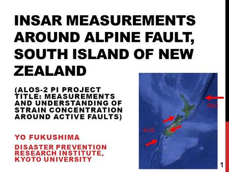 InSAR measurements around Alpine Fault, South Island of New Zealand