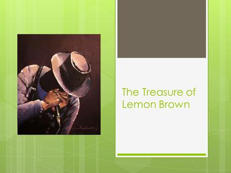 The Treasure of Lemon Brown