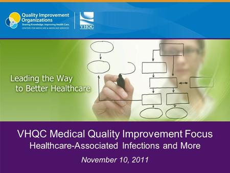 VHQC Medical Quality Improvement Focus Healthcare-Associated Infections and More November 10, 2011.