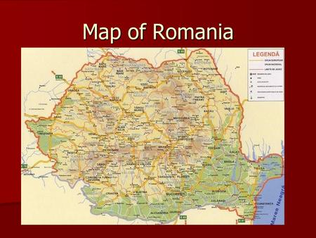 Map of Romania.