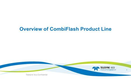 Overview of CombiFlash Product <strong>Line</strong>