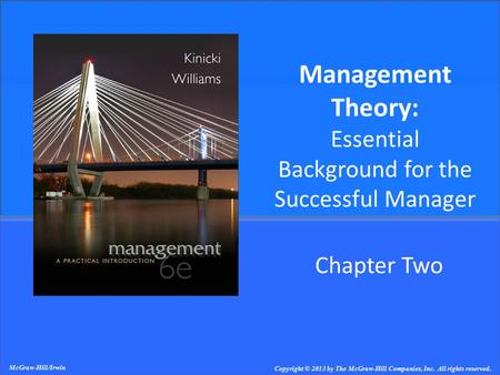 Management Theory: Essential Background for the Successful Manager