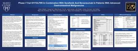 Phase I Trial Of FOLFIRI In Combination With Sorafenib And Bevacizumab In Patients With Advanced Gastrointestinal Malignancies Background: Background: