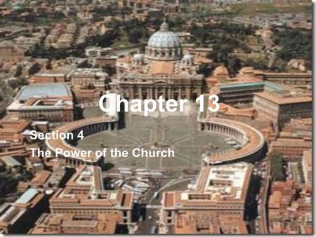 Section 4 The Power of the Church