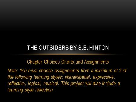A literary analysis of the theme of the outsiders by s e hinton