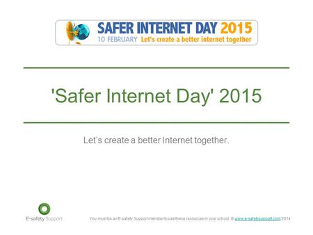 Let's create a better Internet together.