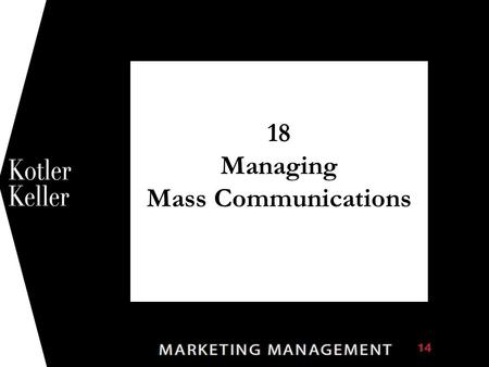 18 Managing Mass Communications 1. Copyright © 2009 Pearson Education, Inc. Publishing as Prentice Hall 18-2 Figure 18.1 The Five M's of Advertising.