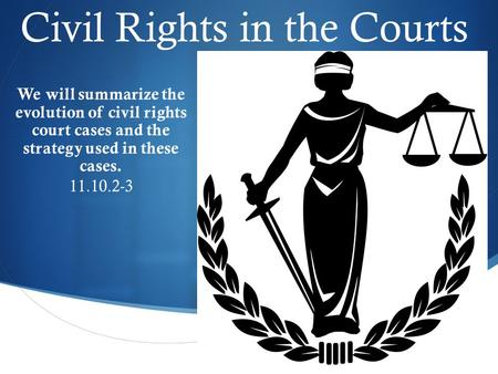 Civil Rights in the Courts