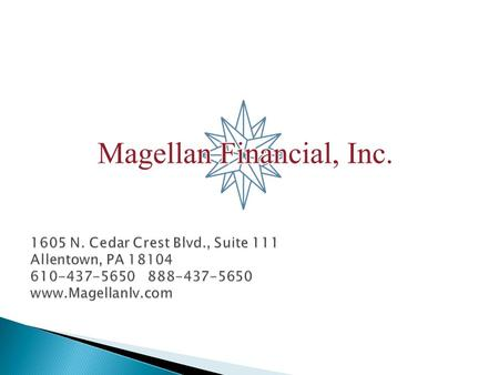  This and/or the accompanying statistical information was prepared by or obtained from sources that Magellan Financial, Inc (Magellan Financial, Inc.