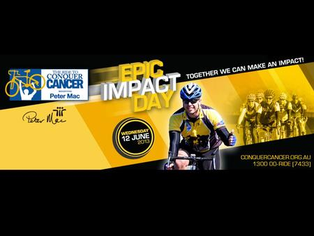 One day, with one goal – get at least one donation for the Peter MacCallum Cancer Centre. IMAGINE If 10,000 riders across the country got just one $100.