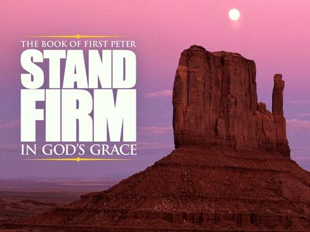 Standing Firm Against the Adversary 1 Peter 5:8,9.
