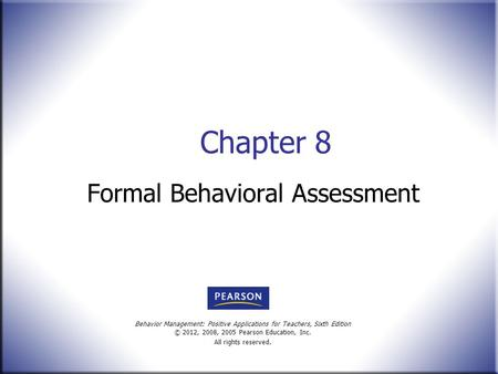 Formal Behavioral Assessment