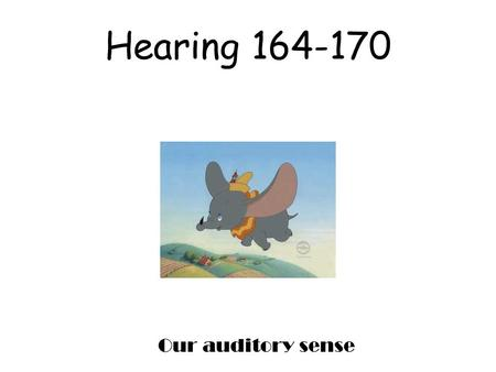 Hearing 164-170 Our auditory sense. Frequency the number of complete wavelengths that pass through point at a given time. This determines the pitch of.
