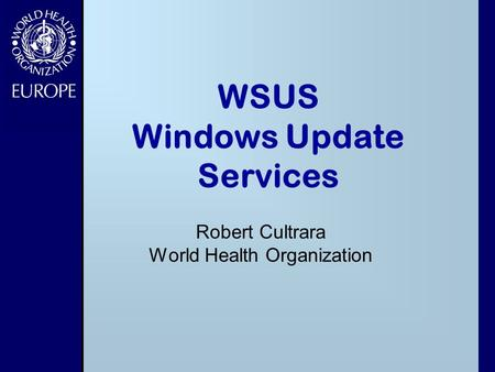 WSUS Windows Update Services