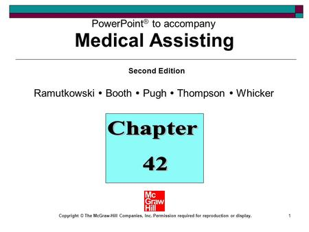 Medical Assisting Chapter 42