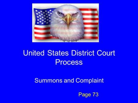 United States District Court Process Summons and Complaint Page 73.