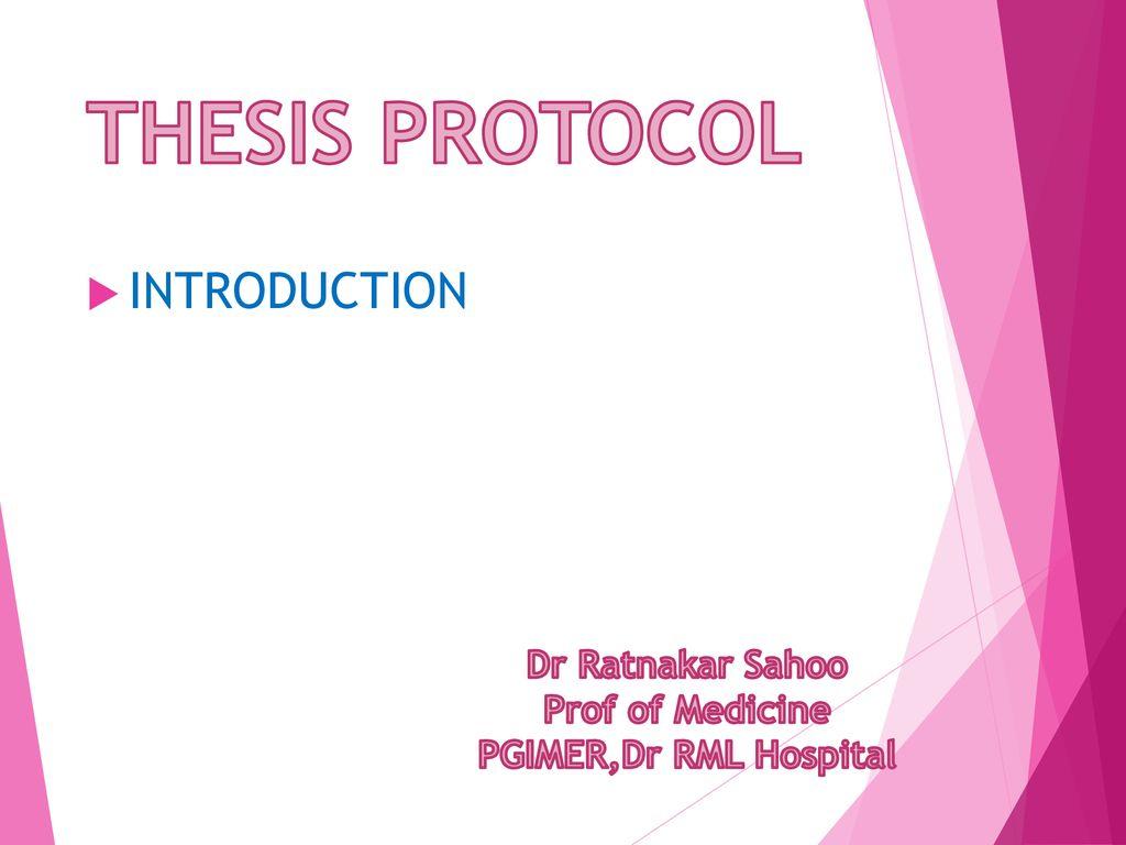 Thesis protocol presentation writing an essay book pdf