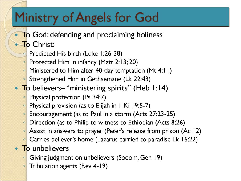 Ministry of Angels for God   ppt download