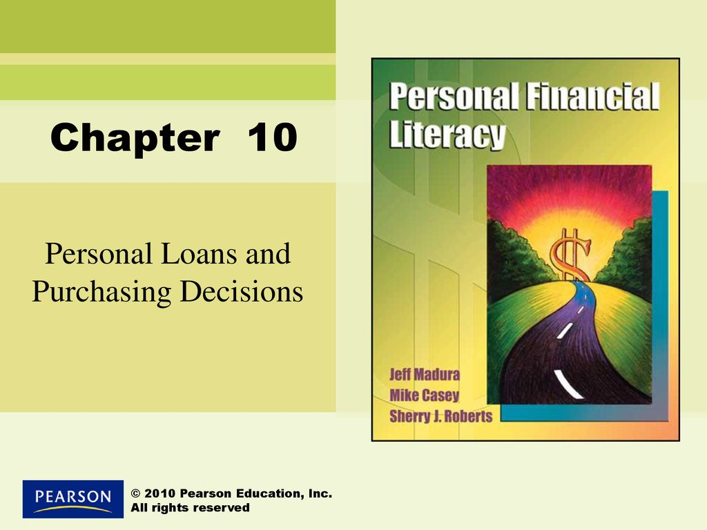 Personal Loans And Purchasing Decisions Ppt Download