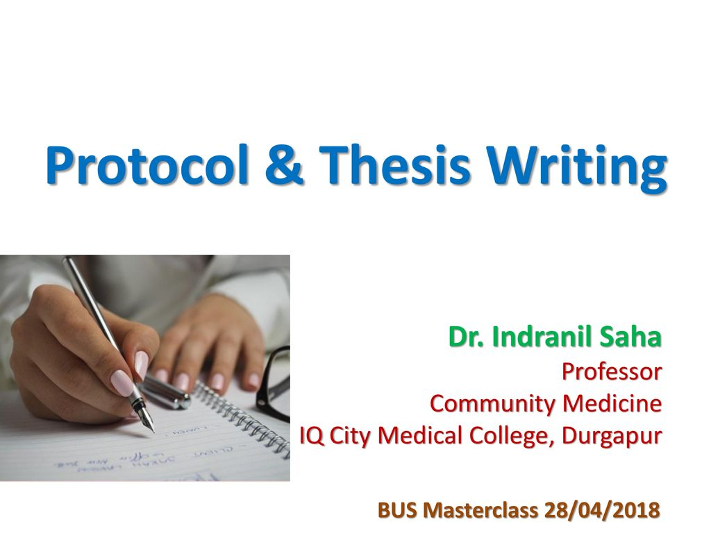 Thesis protocol presentation easiest book report