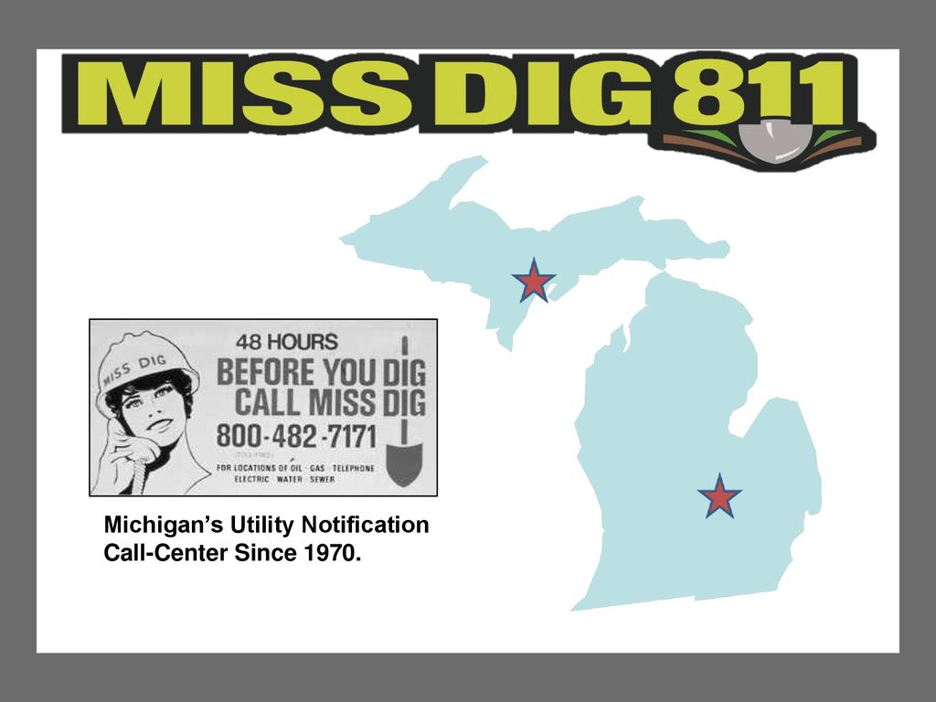 Michigan S Utility Notification Ppt Download There are two convenient ways to reach miss dig 811 to place a locate request: michigan s utility notification ppt